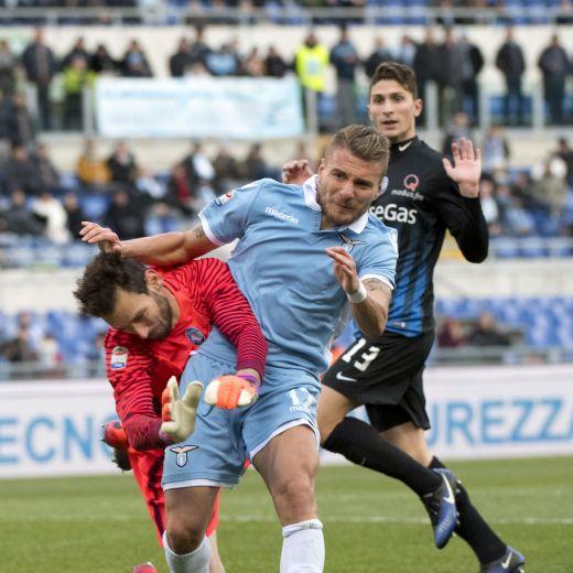 Lazio-Atalanta 2-1 video gol highlights, pagelle, foto: Immobile decisivo