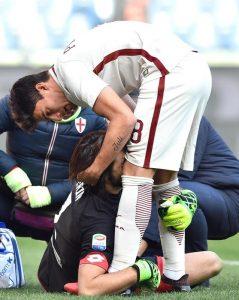 Genoa, Mattia Perin lacrime e crociato rotto: stagione finita