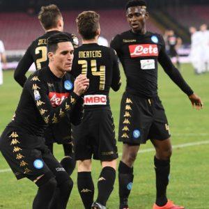 Napoli-Fiorentina, Callejon: foto esultanza con balletto dopo il gol