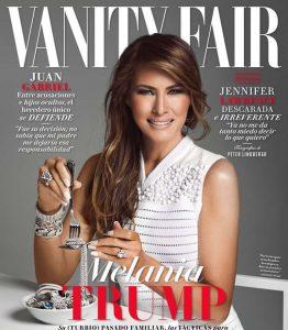 """Melania Trump su copertina Vanity Fair Messico mentre mangia """"diamanti"""": polemiche"""