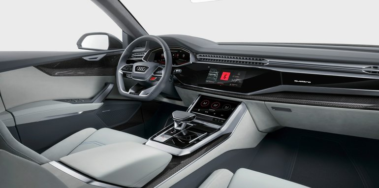 Audi Q8 concept, il suv sportivoche andrà a sfidare le BMW X6 e Mercedes GLE Coupé 05