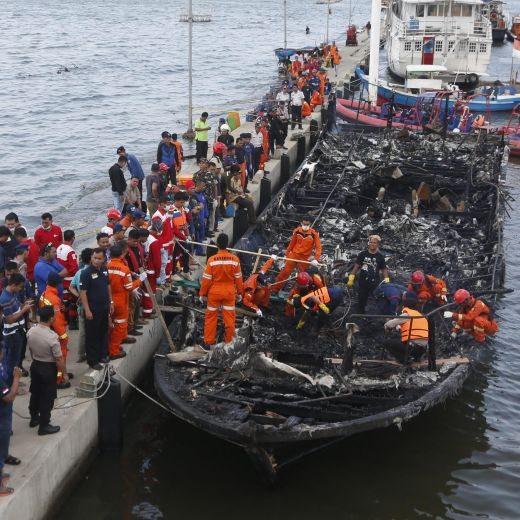 Indonesia, incendio traghetto causato da cortocircuito4