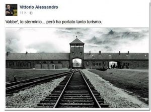 """Auschwitz, """"sterminio genera turismo"""": la frase di Vittorio Alessandro, del Parco Cinque Terre"""