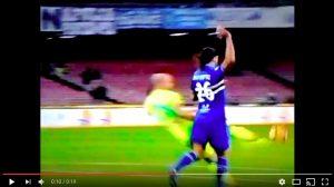Napoli-Sampdoria, video espulsione Silvestre: grave errore per arbitro Di Bello