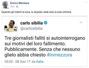 """Enrico Mentana contro Carlo Sibilia (M5s): """"Quando gli indichi la luna lo stupido..."""""""