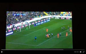 Udinese-Roma, video rigore Dzeko: calciato alle stelle