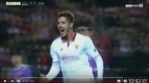 Jovetic video gol decisivo in Siviglia-Real Madrid 2-1