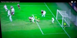 Benassi video gol di tacco in Torino-Milan