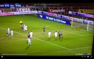 Donnarumma video rigore parato a Ljajic in Torino-Milan