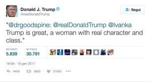 Donald Trump, gaffe su Twitter: loda @Ivanka, ma non è sua figlia...
