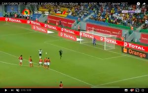 Ghana-Uganda 1-0 highlights Coppa d'Africa: Andre Ayew gol