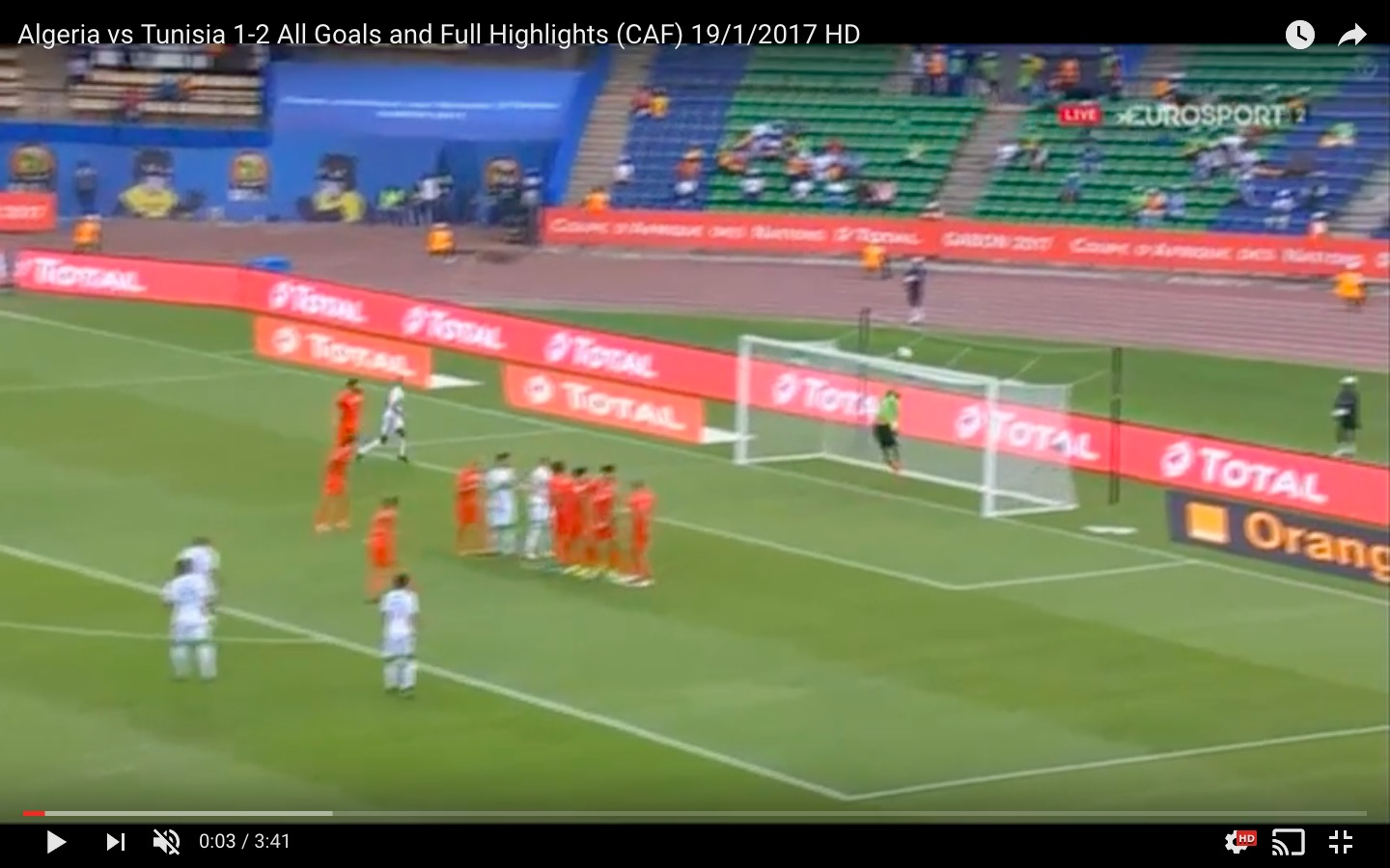 Algeria-Tunisia 1-2 highlights Coppa d'Africa: Sliti decisivo