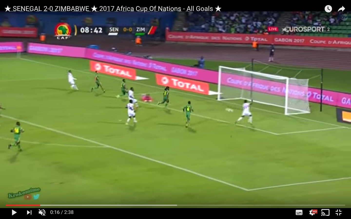 Senegal-Zimbabwe 2-0 highlights Coppa d'Africa: Saivet decisivo