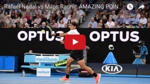 YOUTUBE Nadal-Raonic, il punto più bello degli Australian Open 2017