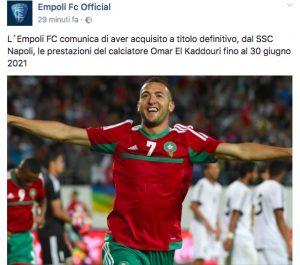 Calciomercato Napoli, Omar El Kaddouri all'Empoli