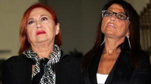 Wanna Marchi e Stefania Nobile (foto Ansa)