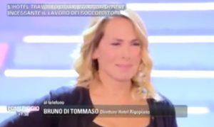 Hotel Rigopiano, Barbara D'Urso in lacrime durante telefonata con direttore albergo