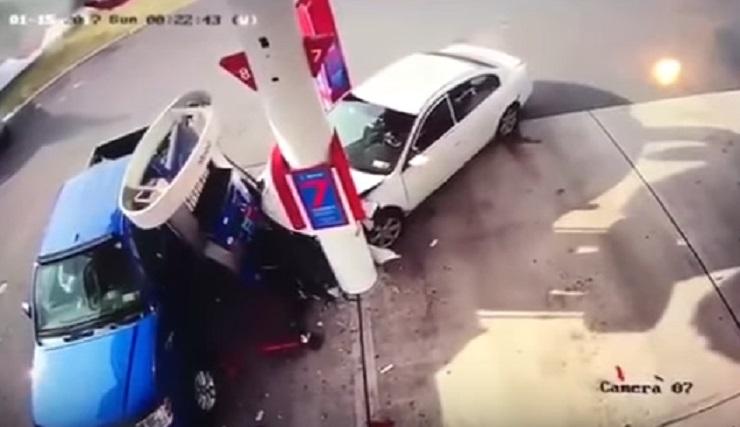 In overdose perde il <br /> controllo dell'auto e...
