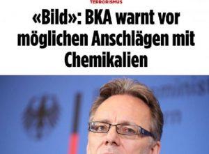 Germania: terroristi islamici pronti ad attentati chimici
