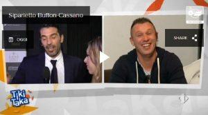 """Tiki Taka, Buffon a Cassano: """"Non smettere, facci divertire ancora"""""""