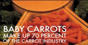 Baby carote preparate con gli scarti