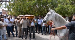 Cavallo piange al funerale del suo padrone