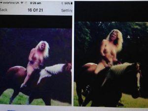 Foto della sua amica senza vestiti, su un cavallo... vendetta dopo un litigio