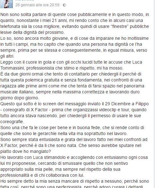 Accuse pesanti per Roshelle da Luca Tommassini