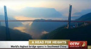 YOUTUBE Cina, inaugurato il ponte più alto del mondo