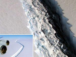 Gigantesco iceberg si sta staccando dall'Antartide: è grande come la Liguria
