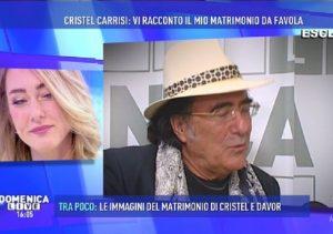 """Cristel Carrisi a Domenica Live. Al Bano: """"Se non fosse stata mia figlia..."""""""