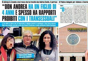 """""""Don Andrea Contin va a trans e ha un figlio"""", rivelazioni di una donna sul sacerdote"""
