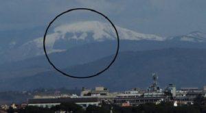 Rieti, con la neve compare la scritta DUX sul Monte Giano: visibile anche a Roma