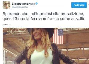 """Elisabetta Canalis: """"Spero che Selvaggia Lucarelli & co non la facciano franca"""""""