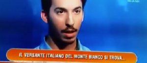 """Errore clamoroso del concorrente: """"Versante italiano Monte Bianco in Sardegna"""""""
