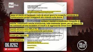 Federica Sciarelli legge insulti alle donne in diretta a Chi l'ha Visto? VIDEO