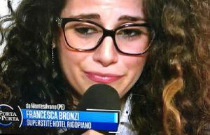 Francesca Bronzi a Porta a Porta scopre che Stefano Feniello è morto