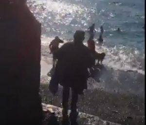 Cimento del Bai, tuffo nel mare fuori stagione a Genova