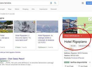 """Hotel Rigopiano su Google? """"Chiuso definitivamente"""""""