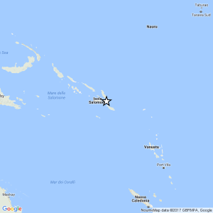 Terremoto Isole Salomone: scossa del 6,6 in mare, no allerta tsunami