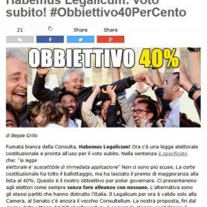 """Italicum. Pd, M5s e Lega gridano al voto subito. Grillo: """"Non faremo alleanze"""""""