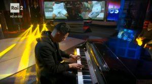 YOUTUBE Gianluca Lapadula suona Chopin al piano alla Domenica Sportiva