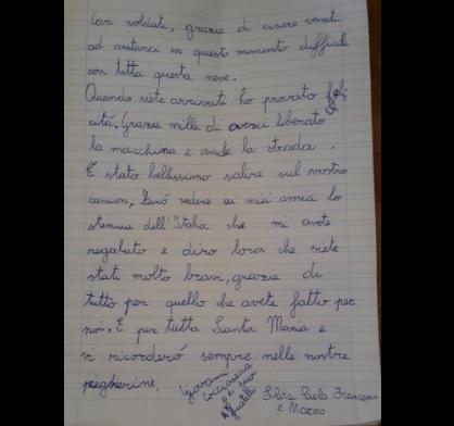 Maltempo, la lettera del bimbo ai militari impegnati per la neve 01