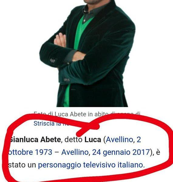 Luca Abete morto su Wikipedia: lugubre scherzo all'inviato