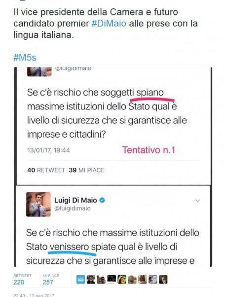 Luigi Di Maio e i congiuntivi sbagliati su Twitter FOTO3