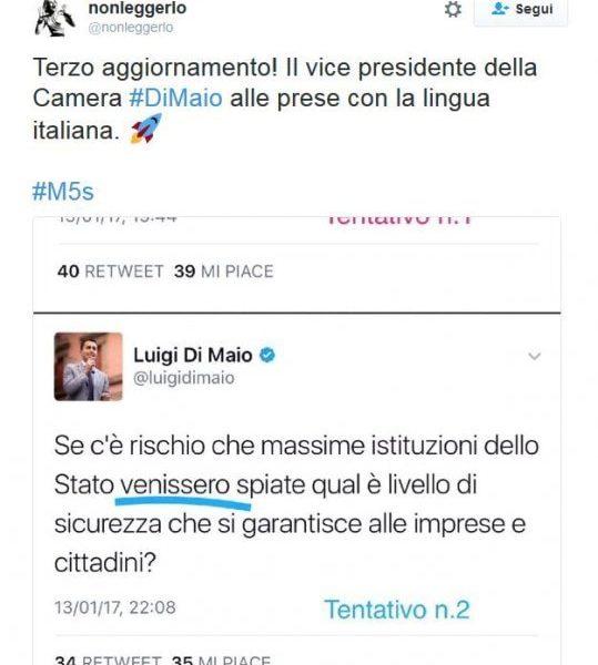 Luigi Di Maio e i congiuntivi sbagliati su Twitter FOTO2