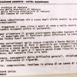 """Rigopiano, mail dall'hotel alle autorità: """"Situazione preoccupante. Intervenite"""""""