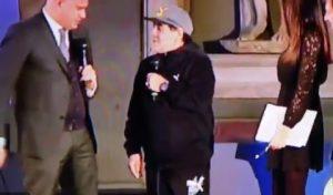 """Maradona: """"Buffon è stato un grande portiere"""". E Ilaria D'Amico... VIDEO"""
