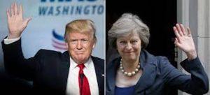 """Theresa May con Trump: """"Insieme guideremo mondo"""". Contro Cia: """"No tortura"""""""