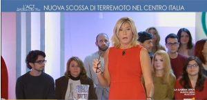 """Terremoto avvertito in studio a L'Aria che Tira. Myrta Merlino: """"C'è un'altra scossa"""""""